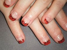 Red color gel with stamp art