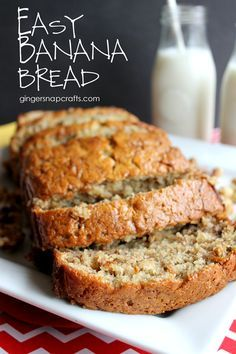 Easy Banana Bread ~ you'll never guess the secret ingredient! | GingerSnapCrafts.com