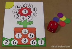 childcareland blog: Flower Roll The Dice Game