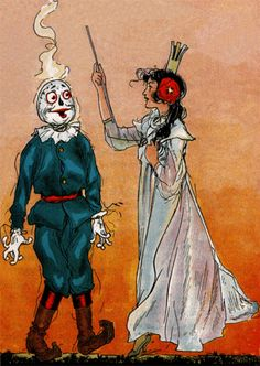 Ozma and the Scarecrow from the tin woodman of oz