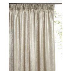 cortina de lino metalizado con galones