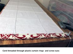 DIY Roman Shades ~ I am going to make these!!