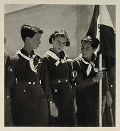 Scouts can do anything, anywhere, anytime.  Iranian girl scouts - 1937