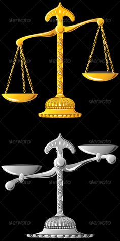 Vector Gold and Silver Scales of Justice #GraphicRiver Set gold and silver scales unbalanced isolated on black background. The archive includes EPS and high-quality Jpeg file for each subject. More images of coins, banknotes of different countries. More images of objects for you: Created: 25July13 GraphicsFilesIncluded: JPGImage #VectorEPS Layered: Yes MinimumAdobeCSVersion: CS Tags: balance #classical #drawing #emblem #equality #glitter #gold #heavier #icon #justice #lighter #meaning…