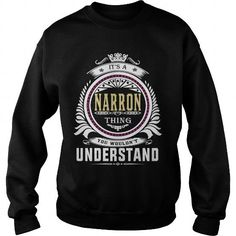 narron  Its a narron Thing You Wouldnt Understand  T Shirt Hoodie Hoodies YearName Birthday