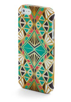 Here We Deco Again iPhone 5/5S Case. Keep your phone both pretty and protected with this deco-printed phone case! #mint #modcloth