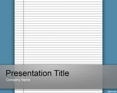 Free lined paper PowerPoint template background for educational presentations