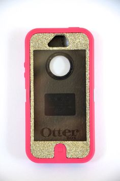 Otterbox Case iPhone 5 Glitter Cute Sparkly Bling Defender Series Custom Case Silver/Pink