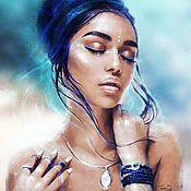 Женский портрет по фото - купить или заказать в интернет-магазине на Ярмарке Мастеров | Портреты по фото на заказ от художницы Татьяны…