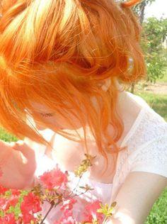 orange hair fun in the sun :3