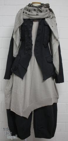 "www.modegalerie-bongardt.de - rundholz mode, rundholz black label, Rundholz DIP Rundholz black label summer 2015 fancy asym. knitted tunic/dress ""cotton""...2 different colours ! 3877302-S15"