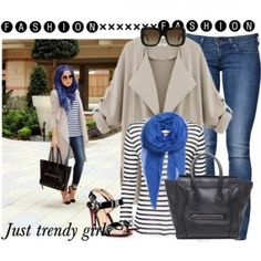 water fall trench coat hijab outfit