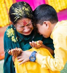 this is an adorable moment for the bride and her little brother. This is the moment when the little brother hugs his sister and all eyes gets teared up ❤❤ . 📷 captured by - . Sister Wedding Pictures, Wedding Images, Hug Images, Wedding Jitters, Haldi Ceremony, Elegant Bride, Indian Wedding Photography, Wedding Wishes, Wedding Bride