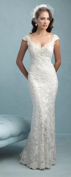 Allure Bridals Spring 2015...never was a fan of birdcage veils but this one is lovely