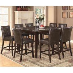 9-Piece Milton Dining Set with Marble Top   Nebraska Furniture Mart
