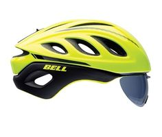 Bell Star Pro Road Bike Helmet With Shield - Yellow / Large
