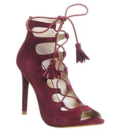 OFFICE Parisian suede ghillie heeled sandals
