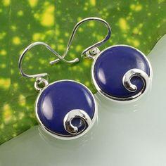 Genuine LAPIS LAZULI Gemstone 925 Solid Sterling Silver Small Pretty Earrings #SunriseJewellers #DropDangle