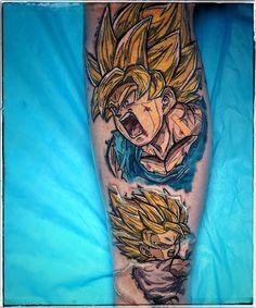 Dragonball Tattoo von Armin Primig 🐙  @mr_catatafish_tattoo super saiyajin tattoo Goku und Goten.  #supersaiyjin Manga Tattoo, Anime Tattoos, Armin, Goku, Sketchy Tattoo, Power Tattoo, Dragon Ball Z, Geek Stuff, Instagram