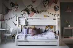 nils familjesäng våningssäng mio - med förvaringslådor