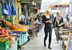 Haut Marais, the oldest covered market in Paris serving a variety of Moroccan, Italian, Lebanese, Japanese and organic dishes just under 10 Euros.