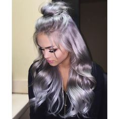 Bright Silver Pink Melting Hair Colors,Wigs and Hair Extensions | Hair... ❤ liked on Polyvore featuring beauty products, haircare and hair color