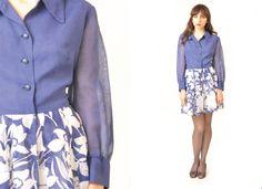 Vintage 60s Cotton Dress MOD Large (35.00 USD) by BearCatLA