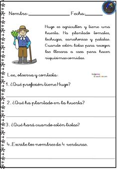 Spanish Lesson Plans, Spanish Lessons, Learning Spanish, Kids Learning Activities, Writing Activities, Flipped Classroom, Math For Kids, Writing Practice, Reading Comprehension