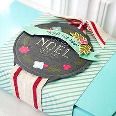 Holiday ribbon slider / tags Papertrey Ink danielle flanders