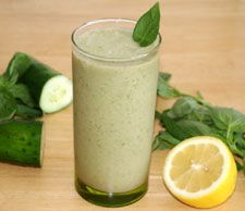 Lemon-basil smoothie with aloe -- bet this would be good with basil seeds too