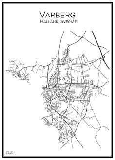 Bohuslän City - Varberg sweden map