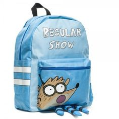 005aeeb69841 Cartoon Network Regular Show Mordecai Backpack with Attached Hood