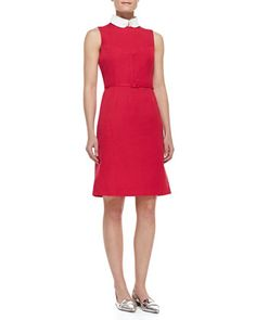 2df43aefabb Kimberly Belted Collar Dress by Tory Burch at Neiman Marcus. Latest Fashion  Dresses