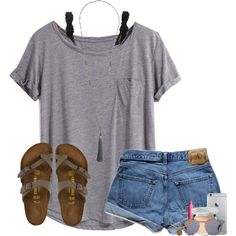 shoutout in the description by lydia-hh on Polyvore featuring Abercrombie & Fitch, Monki, Birkenstock, Alex and Ani, Illesteva, It Cosmetics and tarte