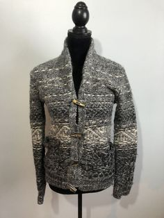 Wilfred Free Aritzia Toggle Front Cardigan Grey Small  | eBay Men Sweater, Grey, Sweaters, Fashion, Ash, Gray, Moda, La Mode, Pullover