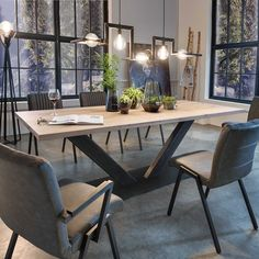 Wooden Dining Tables, Dining Room Table, Dining Area, Kitchen Dining, Online Furniture, Table Decorations, House Styles, Home Decor, Search Engine