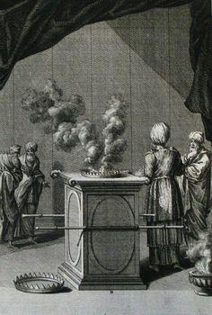 The Phillip Medhurst Picture Torah 439. The altar of incense. Exodus cap 30 vv 1-2. Heuman