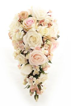 Teardrop bouquet by Loveflowers. Find your perfect wedding flowers at www.loveflowers.com.au