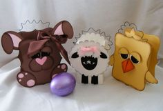 Easter Character Boxes by Tammy