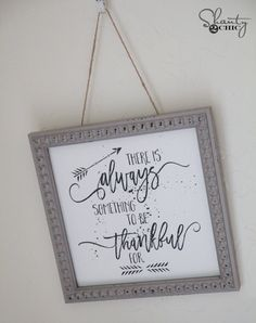 Free Thankful Printable Wall Art by Shanty2Chic                                                                                                                                                      More