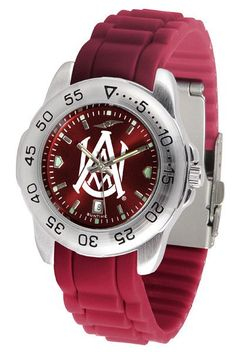 Alabama A&M Bulldogs Sport AnoChrome Watch With Color Band