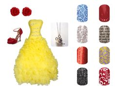 Beauty and the Beast Belle Prom Jamberry Nails ashleylucas.jamberrynails.net