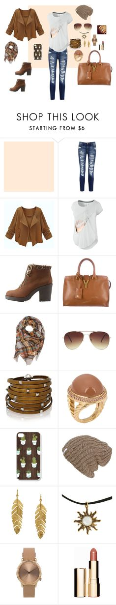 """""""Bez naslova #86"""" by mei-terumi ❤ liked on Polyvore featuring Current/Elliott, NIKE, Charlotte Russe, Yves Saint Laurent, Forever 21, Sif Jakobs Jewellery, David Yurman, Kenneth Jay Lane, Topshop and Clarins"""