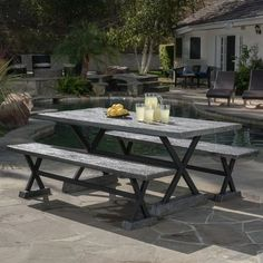 Buenos Aires Picnic Table | Wayfair