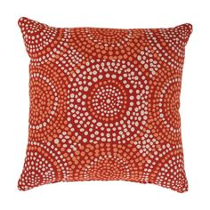 @Overstock - A radiating dot pattern in orange and white covers this red Mosaic throw pillow from Pillow Perfect. Add a bold touch to any living area with this uniquely designed decorative pillow.http://www.overstock.com/Home-Garden/Pillow-Perfect-Mosaic-Red-Square-Throw-Pillow/7213170/product.html?CID=214117 $27.99
