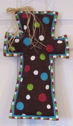 REVERSIBLE Burlap Cross Door Hanger by PaigesNaptimeCrafts on Etsy, $29.99 door hanger, cross door, burlap cross