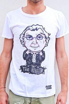 T-shirt Friend-toons personalizzata con la caricatura di The Boss Flavio Briatore. Disponibile nel nostro shop online www.friendtoons.com