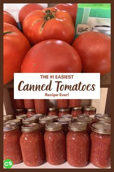 Extra tomatoes? This is the easiest and the most convenient recipe for canned tomatoes you'll ever need, regardless of how many tomatoes you have! #cannedtomatoes #canning #tomatoes #homesteading Canning Stewed Tomatoes, Almond Joy Cupcakes, Healthy Food, Healthy Recipes, Vegan Tacos, How To Can Tomatoes, Convenience Food, Plant Based Diet, Other Recipes