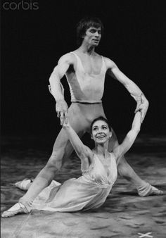 1969: Margot Fonteyn and Rudolf Nureyev rehearse 'Pelleas and Melisanthe' at Covent Garden.