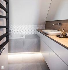 Mieszkanie w Wolsztynie - Mała łazienka na poddaszu w domu jednorodzinnym, styl nowoczesny - zdjęcie od Żaneta Strażyńska